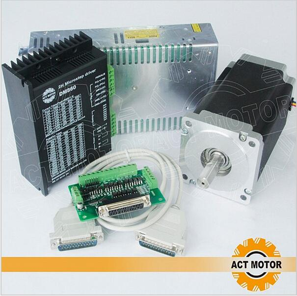 ATO Motor 1 Eixos Nema34 Motor de Passo 34HS9820 890oz-in 98mm 2A 8-Lead Eixo Único + 80 V 7.8A DM860 Motorista + Power EUA DE IT FR livre