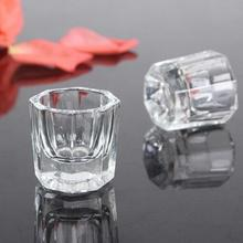 1Pc Transparent Glass Bowl Cup Acrylic Powder Container Nail Manicure Salon Tools Nail Equipment Supply Tools DIY Nail Salon