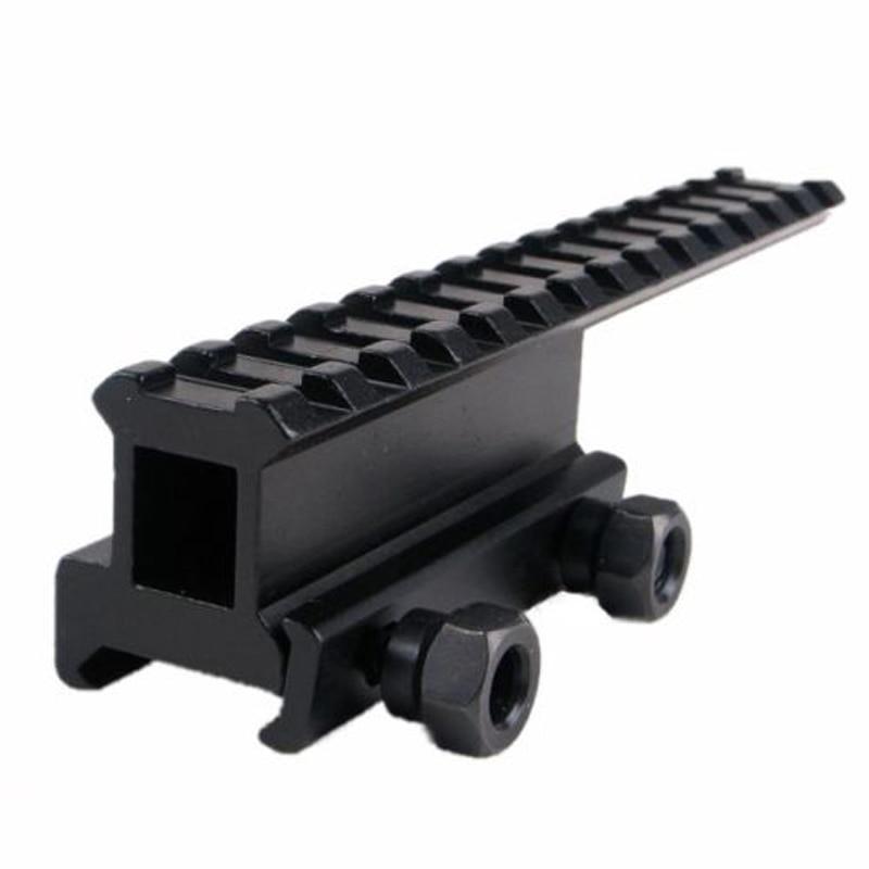 143mm extensión táctica Rail montaje alto elevador Base convertidor apto 20mm Picatinny/Weaver Rail para Riflescopes Airsoft Gun