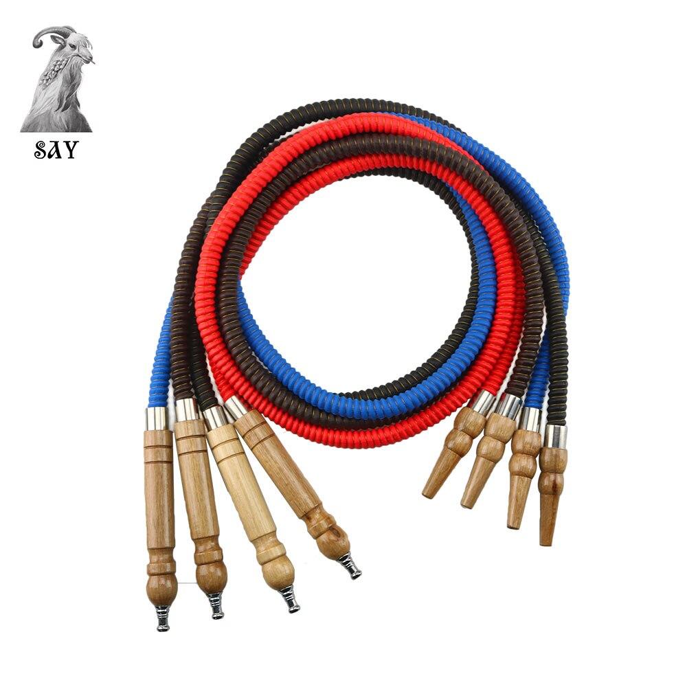 SY 1 шт кожаный PU кальян шланг с деревянными наконечниками для рта кальян трубы аксессуары для курения четыре цвета
