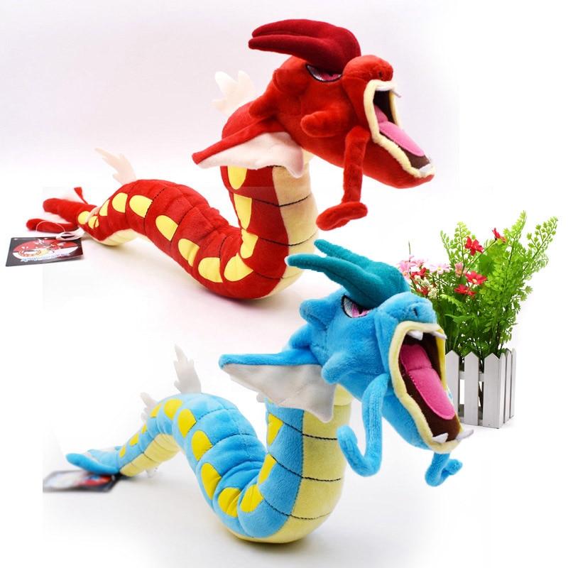 2 Styles Gyarados Red And Blue Gyarado Dragon Animal  Stuffed  Peluche Plush Toys  Figure Dolls 60 cm Great Gift For Children