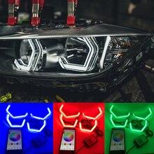 WIFI RGB Multi-Color M4 Iconic Style LED Crystal Angel Eye light Kits for BMW 4 series F32 435i 428i 420d 420i 440i 430i 2013-18