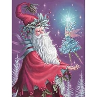 5d diy diamond painting full drill diamond embroidery christmas decorations for home santa claus cross stitch wall stickers