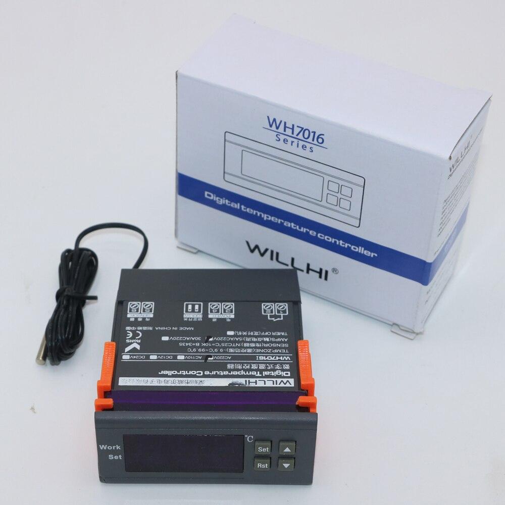 Wh7016c + 10a eletrônico digital display termostato temperatura controlada switch-50 110110c & 0.1/1a resolução de controle