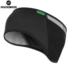 ROCKBROS cyclisme vélo vêtements de plein air Tab sport bandeau casquette chapeau protecteur pour oreille hiver chaud polaire vélo équipement oreille plus chaud