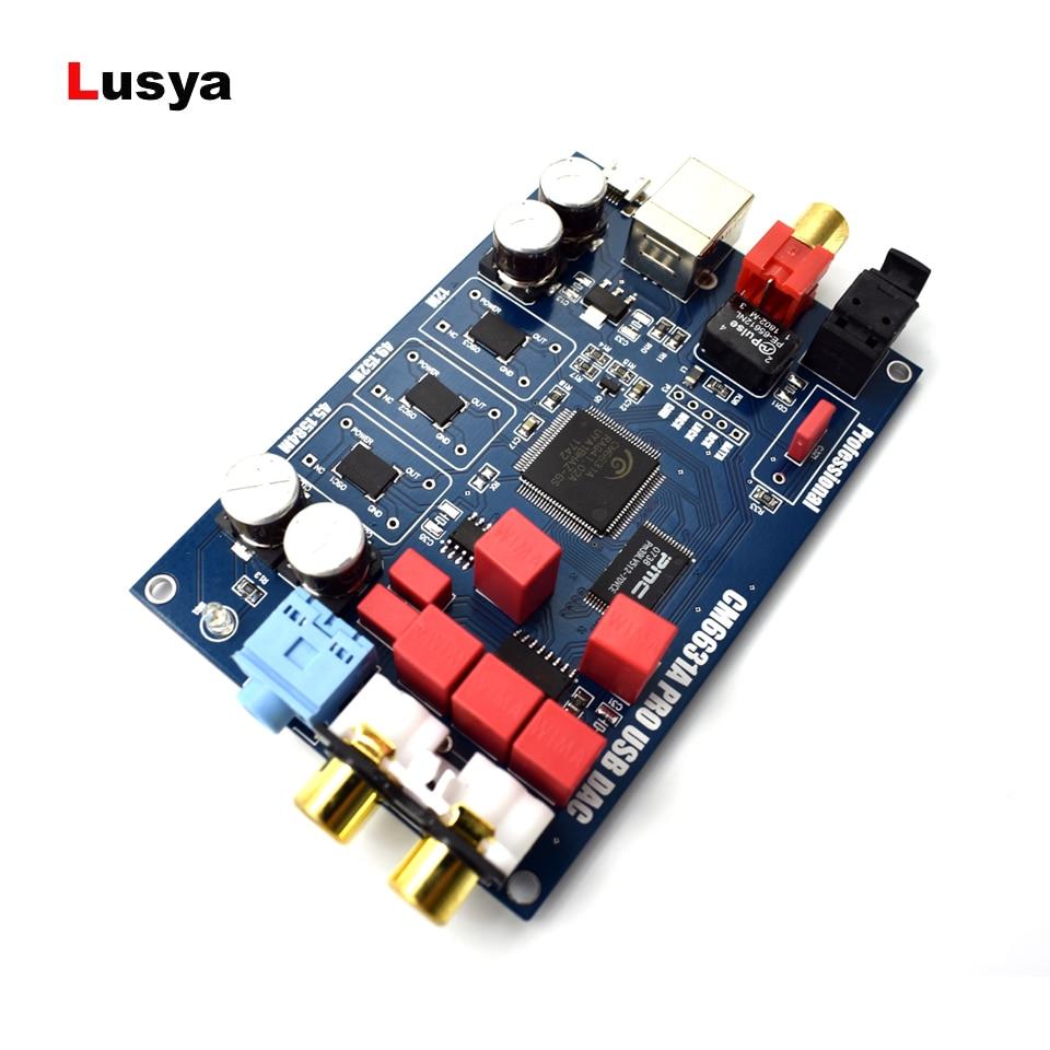 CM6631A digital, interfaz USB a I2S/SPDIF coaxial salida 32/24Bit 192K + shel DAC decodificador T0082