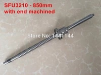 sfu3210 850mm ballscrew with ball nut with bk25bf25 end machined