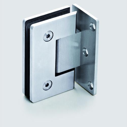 مفصلة باب دش مثبتة على الحائط من الفولاذ المقاوم للصدأ ، مفصلة باب دش من الزجاج إلى الحائط ، للحمام ، تشطيب من الساتان ، 304