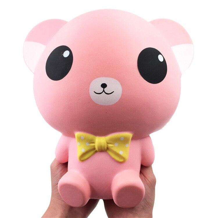 Arco Urso Grande Jumbo Mole Enorme Squishes Lento Subindo Brinquedos Squish PU Macio Animal Gigante Alívio 25 Antistress Caçoa o Presente cm