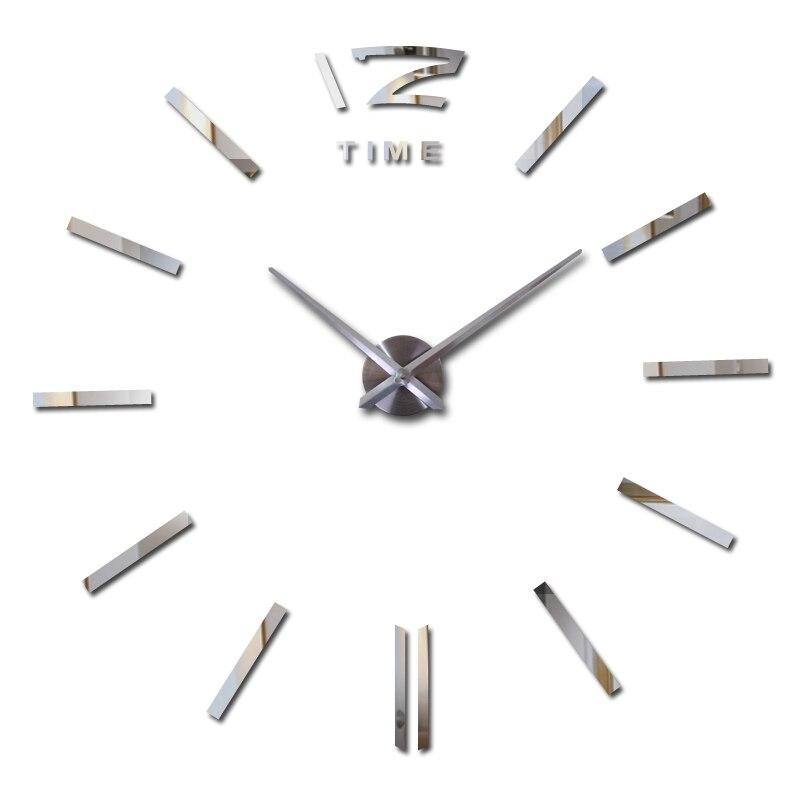 big wall clock new home decorations living room quartz Metal modern design decorative wall stickers clocks watch