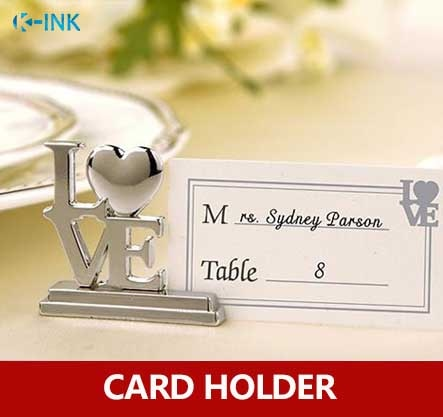 20pcs / lot , LOVE metal place card holder photo stands for wedding as name