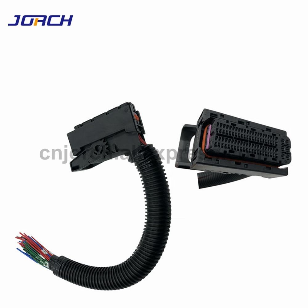 1 juego EDC17 Automotive 94Pin arnés de cable ECU enchufe zócalo de circuito impreso con arnés de cableado conector de carril común para Bosch