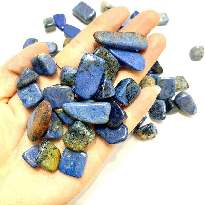 Оптовая продажа 100 г 4 размера натуральный дамортиерит кварцевый полированный Кристальный гравий образец горной породы драгоценные камни н...