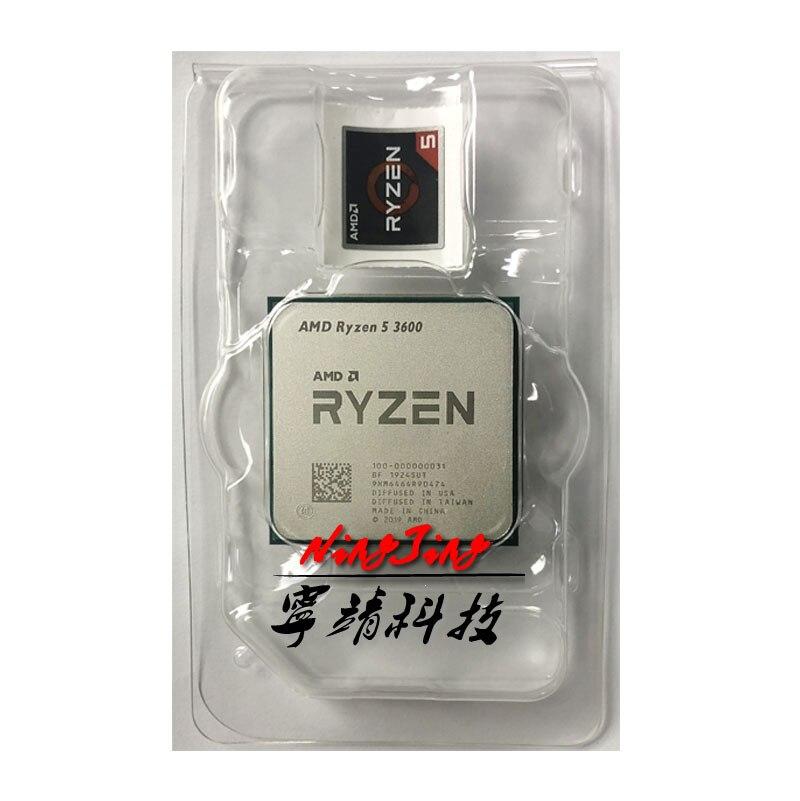 AMD Ryzen 5 3600 R5 3600 3.6 GHz a Sei Core Dodici-Thread di CPU Processore 7NM 65W L3 = 32M 100-000000031 Presa AM4 nuovo, ma senza ventola
