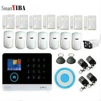 SmartYIBA-securite WIFI sans fil   GPRS intelligent  systeme de securite pour cambrioleur  camera IP exterieure  APP  telecommande  polonais espagnol