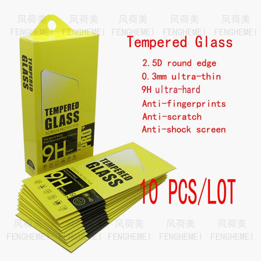 Venta al por mayor, 10 unidades/lote, cristal templado de FENGHEMEI para Huawei Mate 20 20X5G Pro Lite X Mate 30 Lite Pro Mate S RS, Protector de pantalla