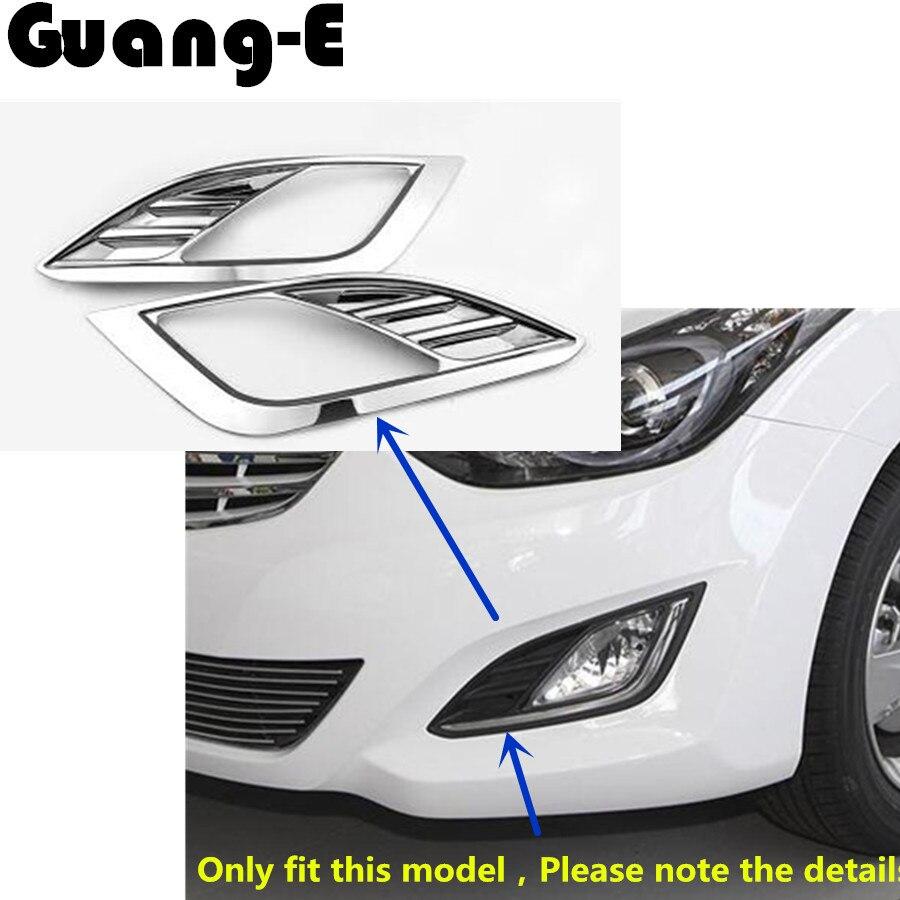 Cubierta de diseño de coche ABS cromado faro delantero niebla embellecedor de luz marco moldura capuchas para Hyundai elantra Avante 2012 2013 2014 2015