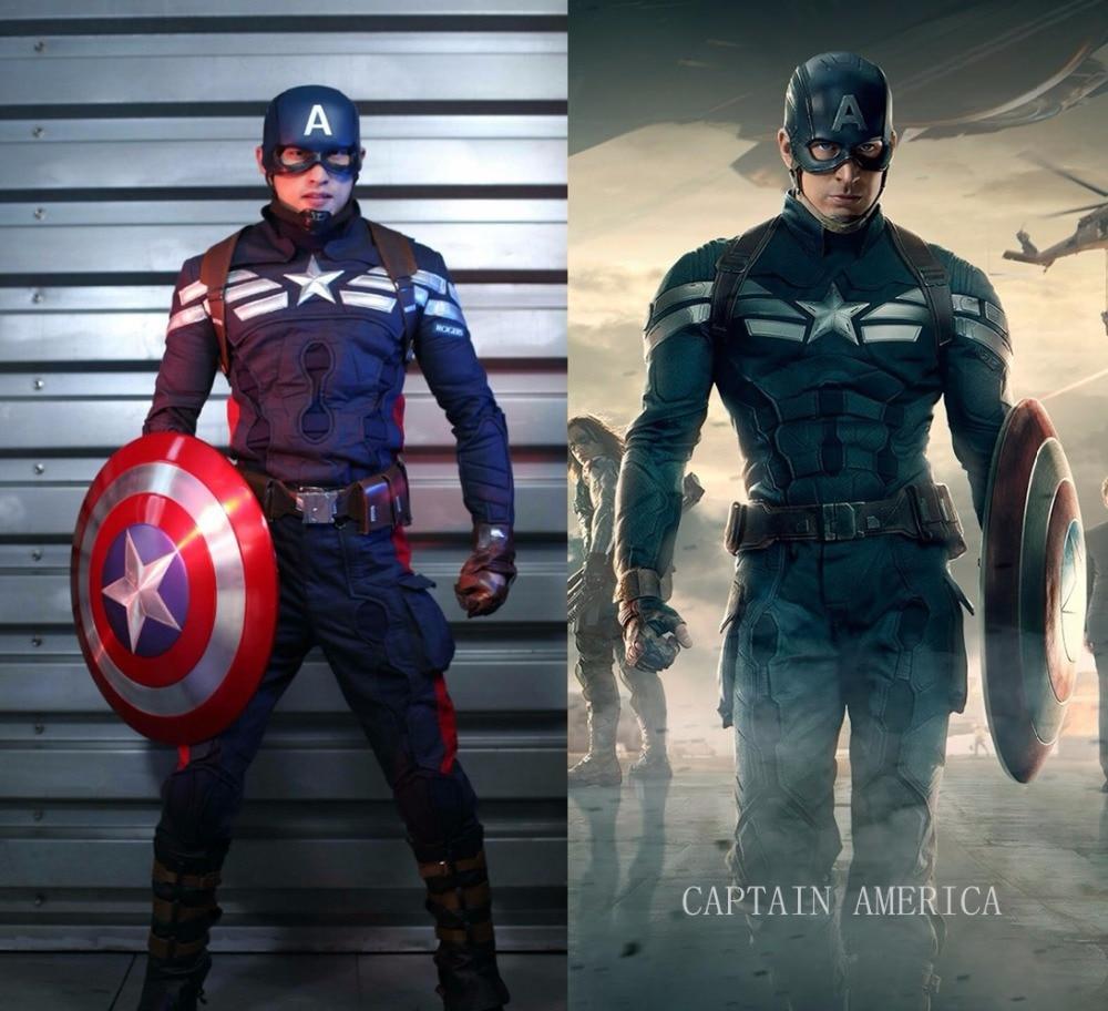 Os vingadores 2 capitão américa cosplay traje de super-herói equipamento carnaval festa de halloween trajes adultos para mulher/homem personalizar