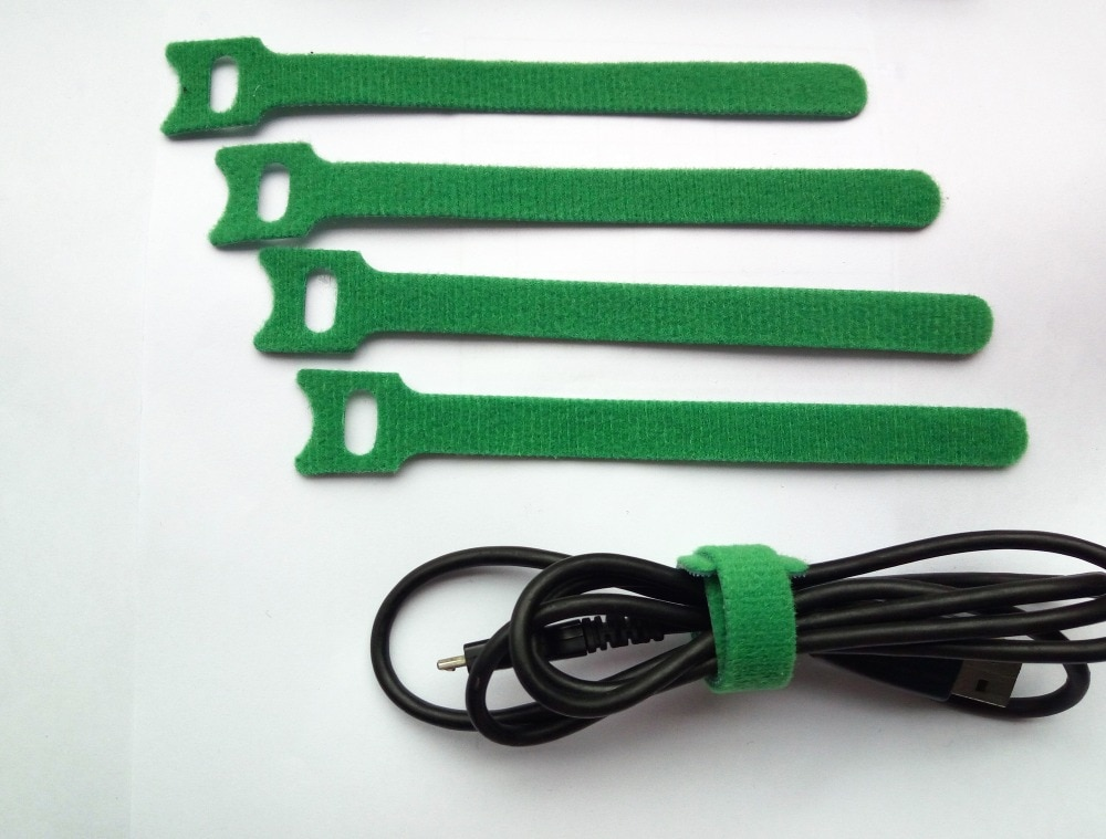 ربطات كابل نايلون خضراء سحرية قابلة لإعادة الاستخدام ، 120 × 12 مللي متر ، مع ثقوب مثقوبة ، ظهر إلى الخلف ، قفل بحزام رفيع ، 150 قطعة