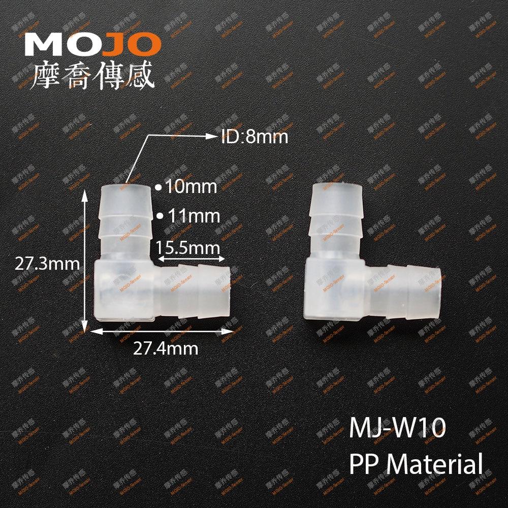 2020 شحن مجاني!(50 قطعة/السلع) MJ-W10 PP خرطوم مشتركة الكوع نوع مشترك 10 مللي متر الأنابيب موصلات مواسير