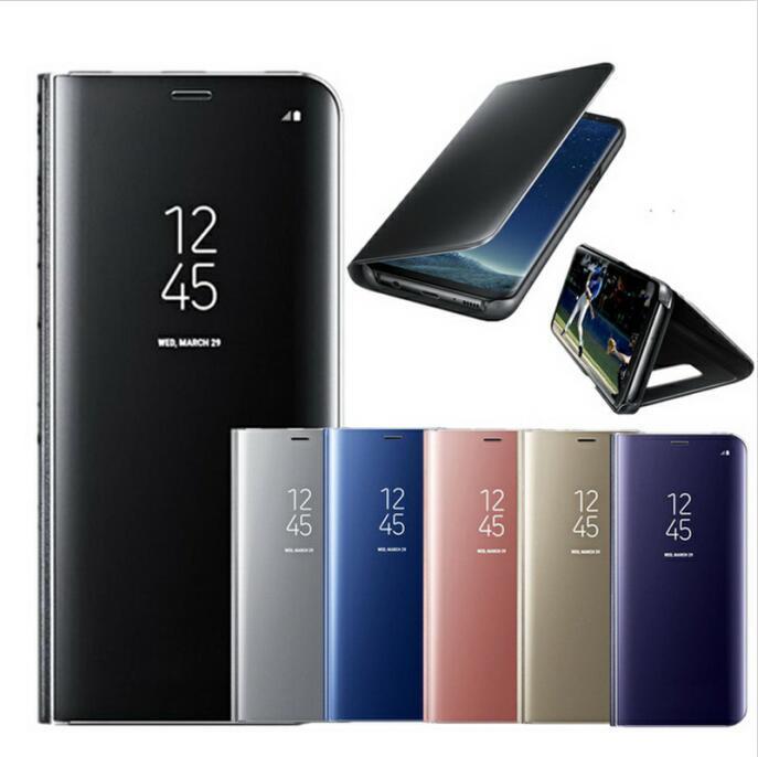 Funda transparente con tapa para Samsung Galaxy S9, S8 Plus, S6, S7...