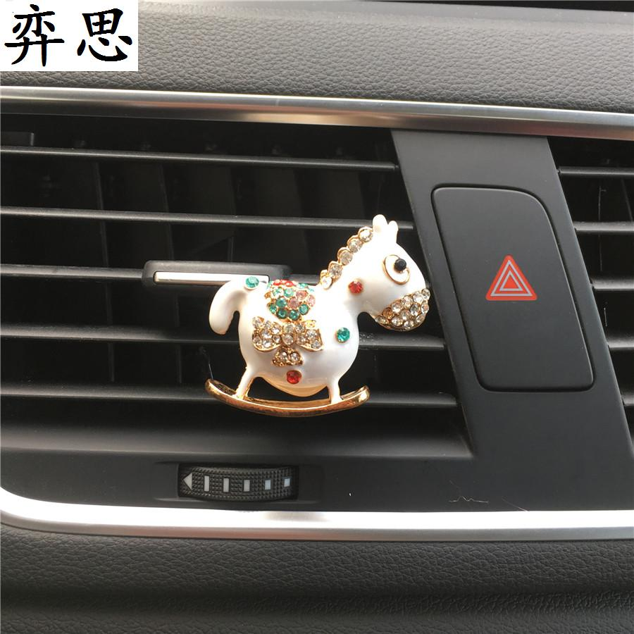 Cute little pony Auto perfume clip Car styling Air conditioner Jewelry pendant car air freshener Perfumes 100 Original Women