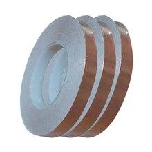 1pcs 30 Meters Single Side Conductive Copper Foil Tape Strip Adhesive Shielding Heat Resist Tape 3mm 5mm 6mm New