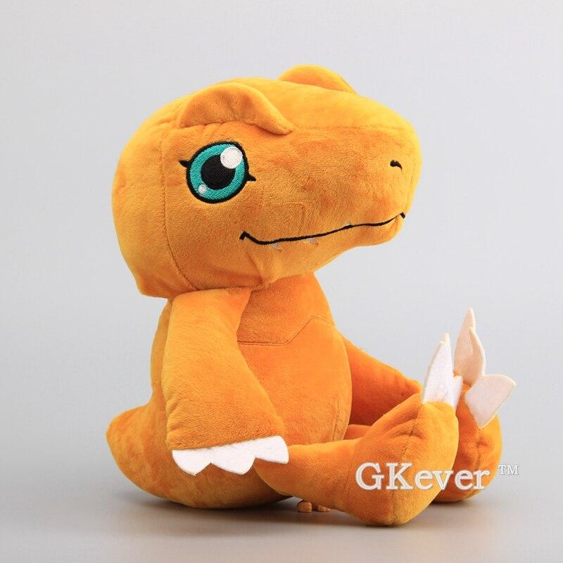 "NEW Cartoon Digimon Adventure Agumon Plush Toy Stuffed Animals Kids Soft Toys 14"" 35 CM"