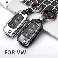 Zinc alloy Car Remote Key Cover Case for VW Golf Bora Jetta POLO GOLF Passat For Skoda Octavia A5 Fabia For SEAT Ibiza Leon