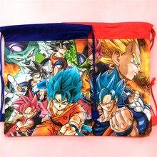 1 stücke 34*27 cm Dragon Ball thema vliesstoffe kordelzug taschen rucksack, junge kinder Geschenk tasche Geburtstag Party Favor