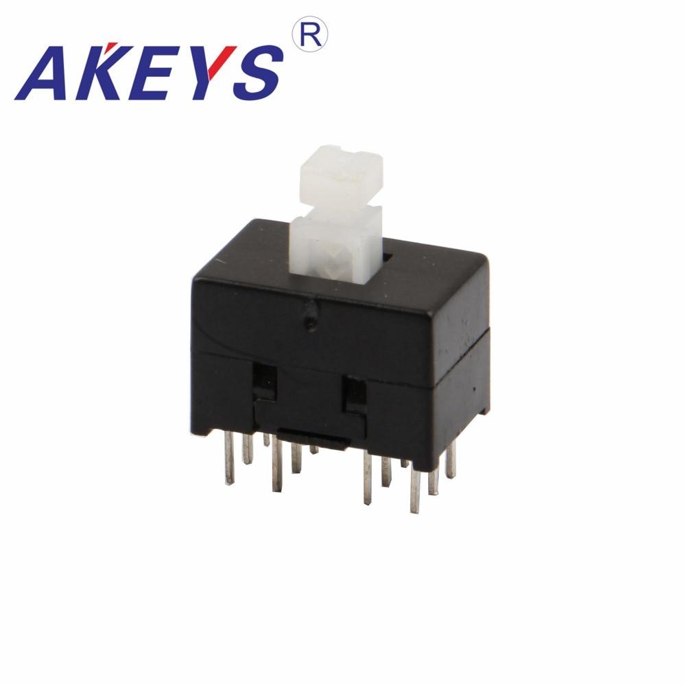 15PCS KFT-8.5X13 8.5*13 MILÍMETROS push interruptor de chave interruptor de bloqueio MINI ventilador Elétrico 12pin interruptor À Prova D Água inteligente
