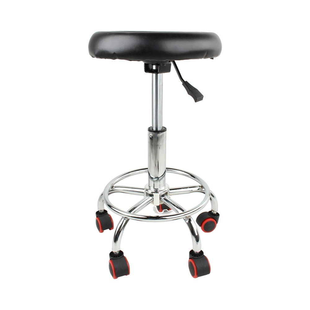32cm Hydraulic Rolling Swivel Stool Chair Salon Spa Tattoo Facial Massage Tools Accessory 45-55cm Hight Adjustable