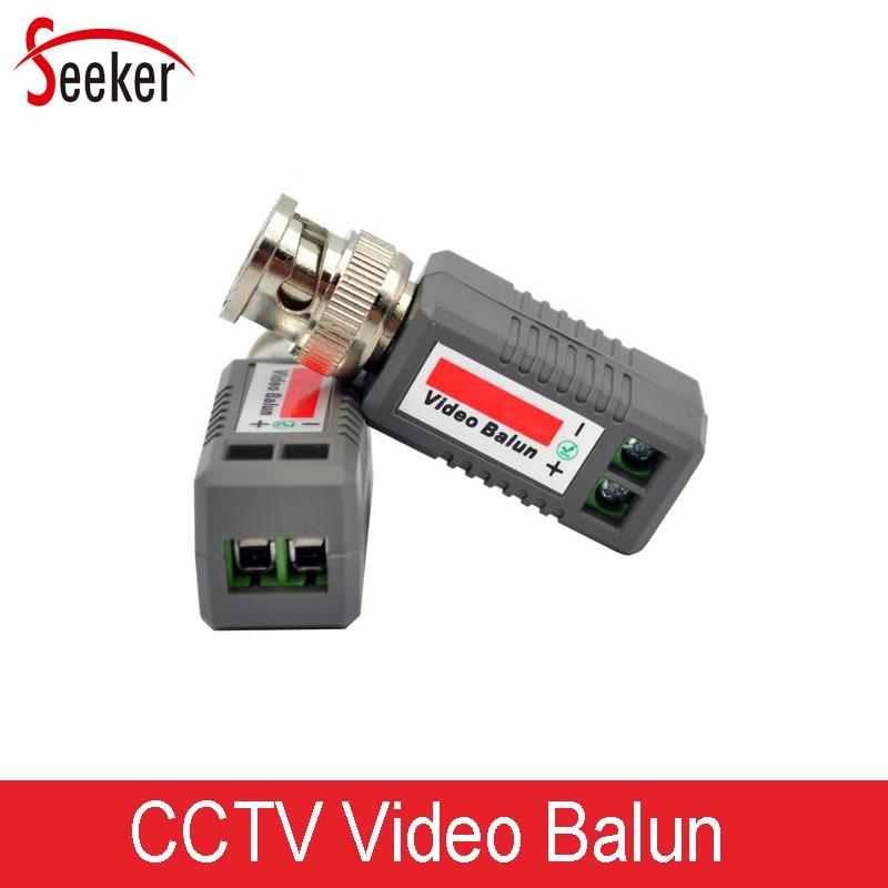 100pcs/50pairs Security Parts passive Transceivers UTP CCTV Video Balun Coaxial Cat5 Upto 2000ft 600M for AHD TVI CVI cameras