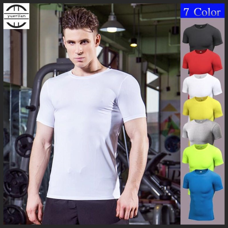 200p!Men Pro Wicking&Quick-Drying T-Shirt,High Elastic Compression Tight Short Sleeve Undershirt,Sporting Protect,Anti Wrinkle