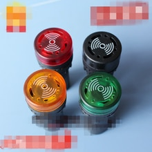 2PCS 110VAC 220VAC 380VAC Red Yellow Green Black LED Indicator Signal Flash Light with Buzzer Alarm 110VAC 22mm Dia. AD16-22SM