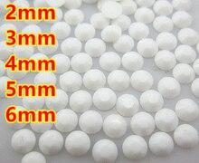Perles AB plates en résine blanche gelée   Pour Art des ongles/vêtement/décoration (2mm 3mm 4mm 5mm 6mm) 10000 ~ 100000 pièces/sac