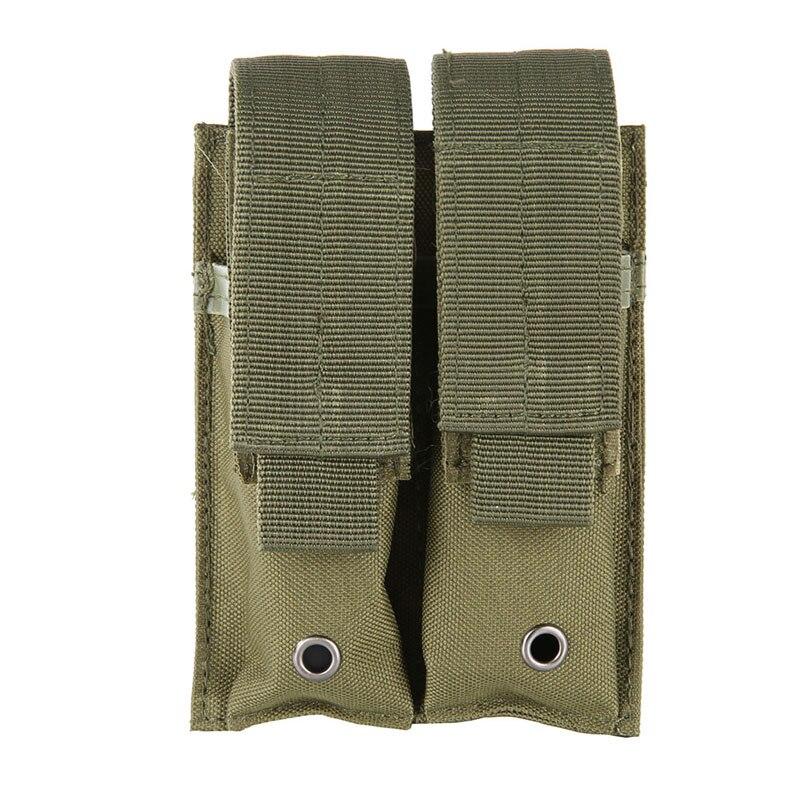 9mm 600D Molle bolsa Nylon táctico doble pistola revista bolsa cierre la funda para exterior caza combate militar bolsa