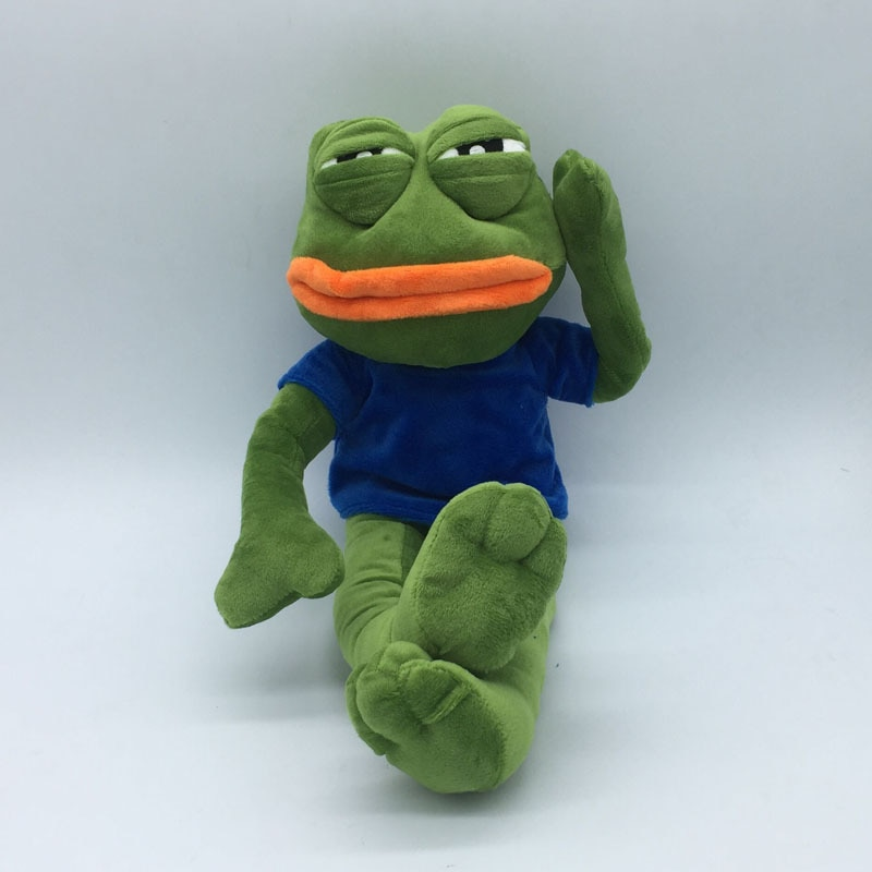 De peluche de juguete 42 cm magia expresión Pepe la rana triste rana de peluche juguetes de peluche de navidad regalo de cumpleaños