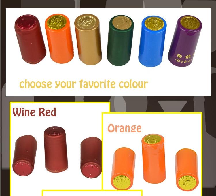 Tapa Termocontraíble de Pvc de 200 Uds., tapa de botella de vino para elaboración casera, barra de sello para botella de vino, accesorios DIY, herramienta de elaboración fácil de usar