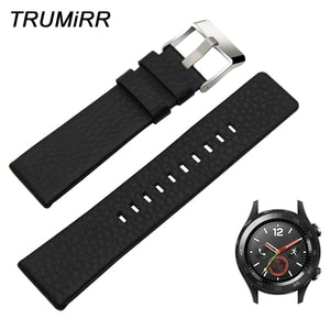 20mm Italian Genuine Leather Watchband for Huawei Watch 2 (Sport) Pebble Time Round 20mm Withings Steel HR 40mm Band Wrist Strap