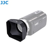 JJC Camcorder DV Schroef Kap 30/37/43/46/58mm Video Zonnekap Voor Canon LEGRIA HF R806/R86/Sony FDR-AX700/HDR-CX680/Panasonic JVC