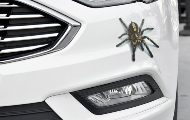 Pegatina de coche 3D, parachoques de animales, araña Gecko Scorpions para Nissan Juke Murano Versa Almera Sentra Xtrail x-trail Terrano Qashqai