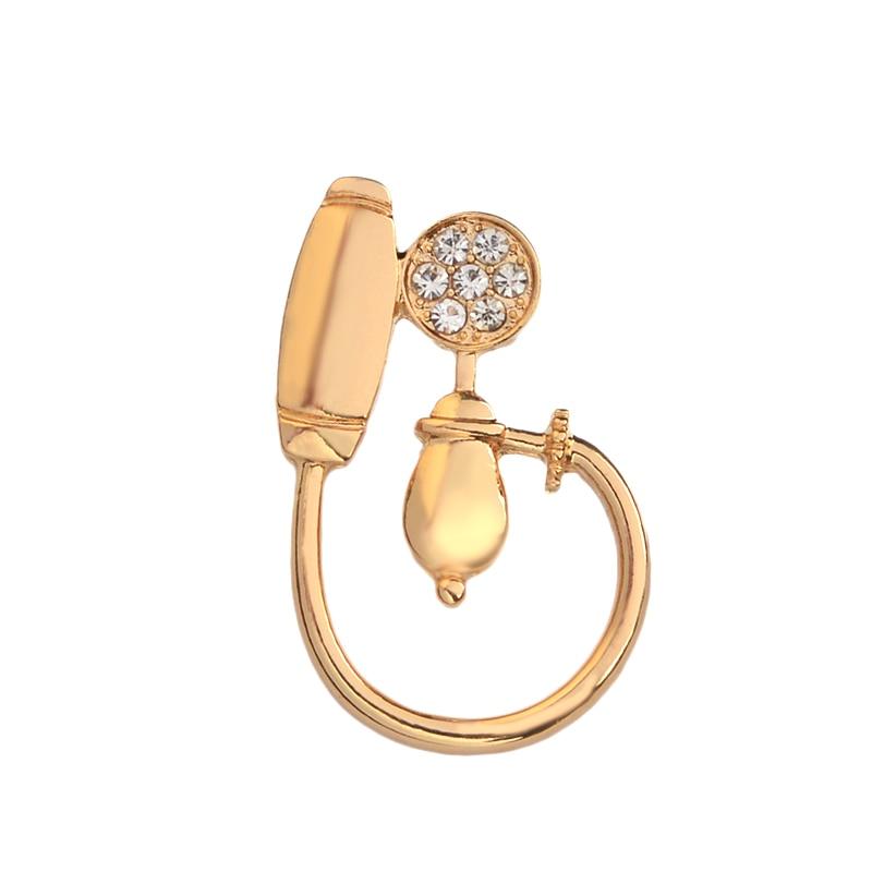 Broche de medidor de presión arterial con pasadores de Metal de diamantes de imitación, botón de regalo de joyas para médicos para Doctor, terapia médica