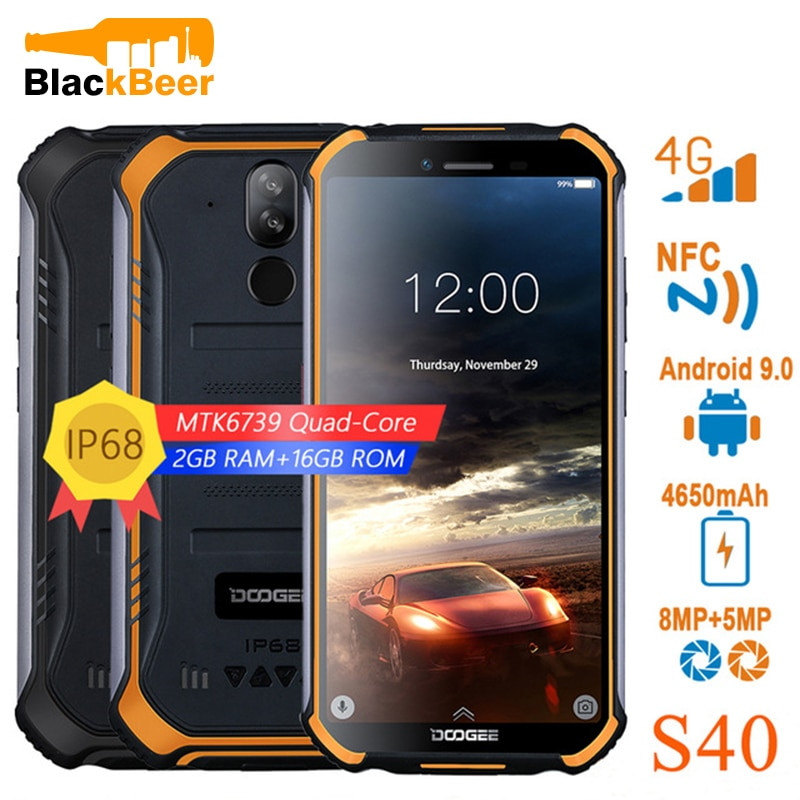 DOOGEE S40 S40 Pro 4G Rugged Mobile Phone 5.5