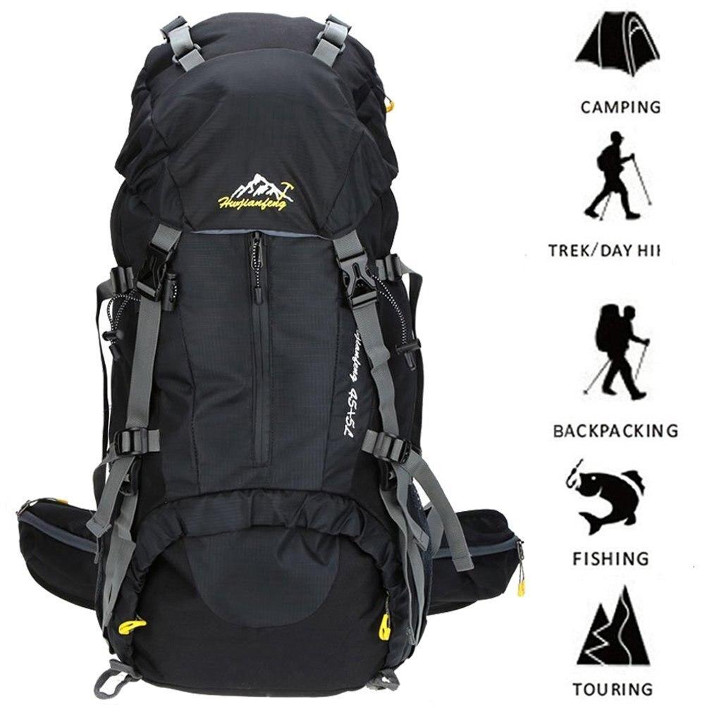 50L mochila táctica multifunción de Montañismo con cubierta de lluvia 45l + 5l bolsas de Camping de viaje para escalada esquí deporte al aire libre