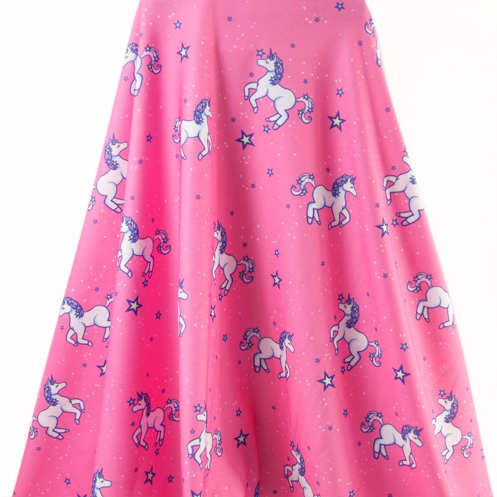 Accesorios David 50*145cm unicornios 4 maneras stretch tejido de punto para tejido niños ropa de cama textil para coser Tilda Doll,53563
