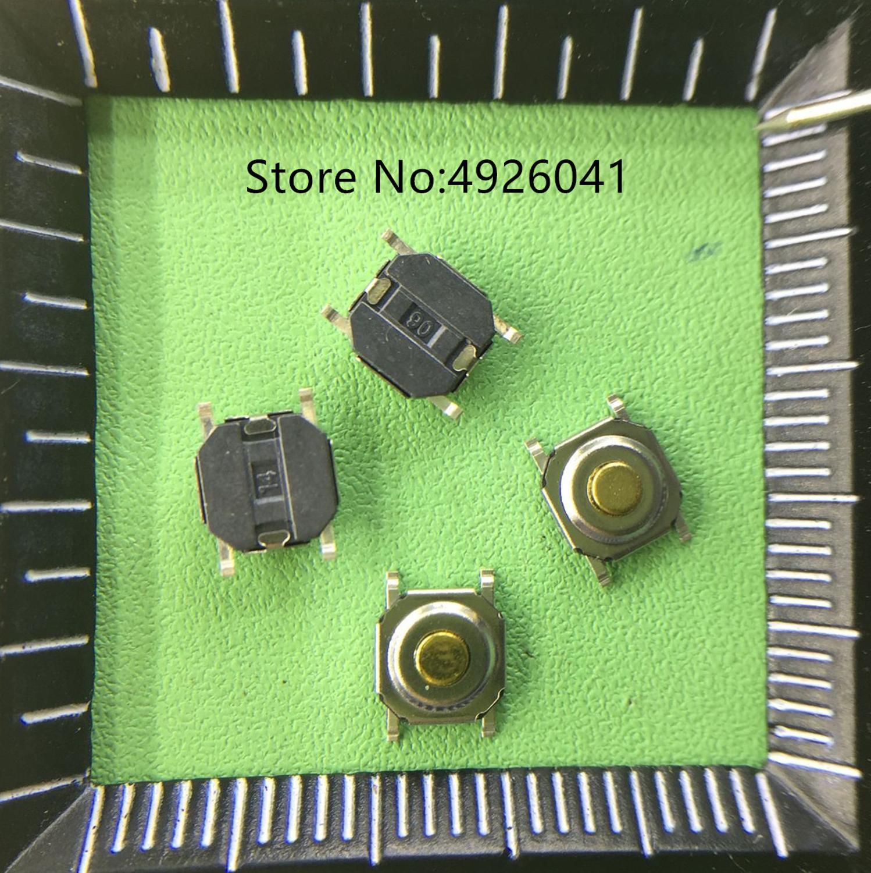 50 PCS TS052W1-F17C Tact Switch 4 Quatro-pin 4x4x1.5 MM SMD Botão Jog