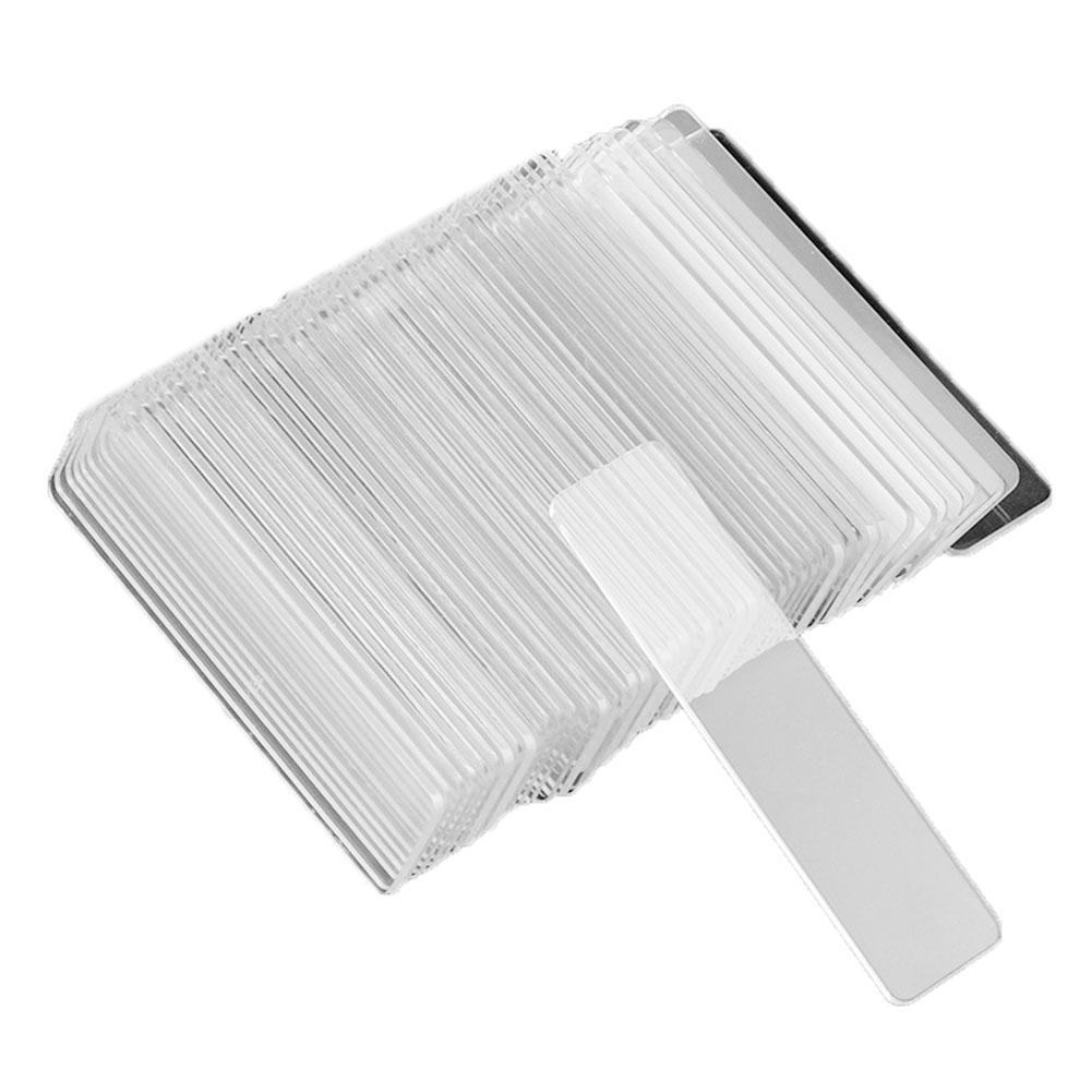 Oferta 50 unids/lote Arte para uñas transparente Tips Strip Display Stand acrílico mostrar estante nueva llegada