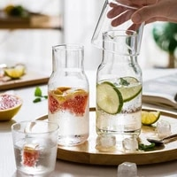 water carafe with tumbler glass cold hot water bottle cup sets bedside water pitcher high temperature resistance bottle