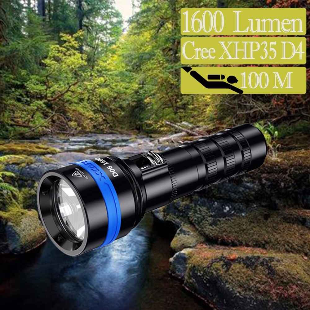 super torch search light imalent dx80 8 cree xhp70 max 32000 lumen beam distance 806 meter led flashlight for hunting XTAR D06 1600 Diving Flashlight CREE XHP35 D4 max 1600 Lumen Beam Distance 430meter Magnetic Switch Torch 100 Meter Diving Depth